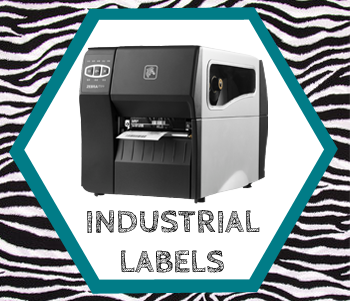 Labels for Zebra industrial printers