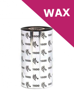 Zebra 1600 wax thermal transfer ribbons - 83mm x 450m (01600BK08345)