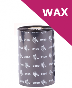 Zebra 2100 wax thermal transfer ribbons - 40mm x 450m (02100BK04045)