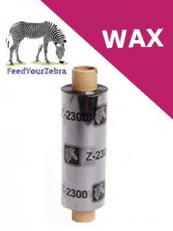 Zebra 2300 wax - 64mm x 74m (02300GS06407)