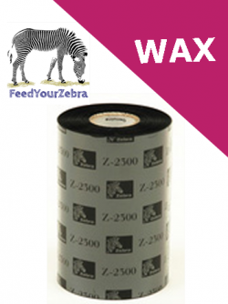 Zebra 2300 wax thermal transfer ribbons - 89mm x 450m (02300BK08945)