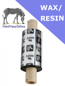 Zebra 3200 wax / resin - 56.9mm x 74m (800132-102)