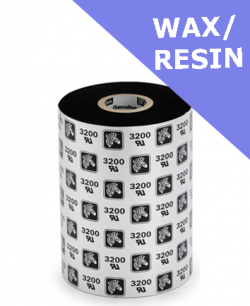Zebra 3200 wax / resin thermal transfer ribbons - 83mm x 300m (03200BK08330)