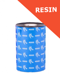 Zebra 4800 resin thermal transfer ribbons - 60mm x 450m (04800BK06045)