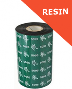 Zebra 5095 resin thermal transfer ribbons - 110mm x 450m (05095BK11045)