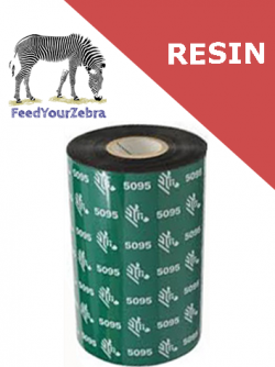Zebra 5095 resin thermal transfer ribbons - 220mm x 450m (05095BK22045)