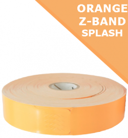 ORANGE Zebra Z-Band Splash wristbands - 25mm x 254mm (10012718-6)