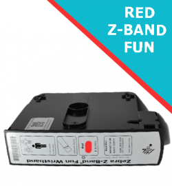 RED Zebra Z-Band Fun wristband cartridges - 25mm x 254mm (10012713-1K)