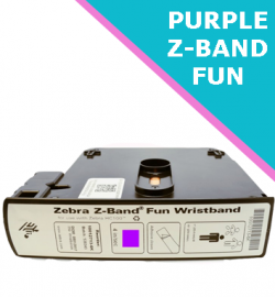 PURPLE Zebra Z-Band Fun wristband cartridges - 25mm x 254mm (10012713-7K)