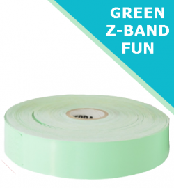 GREEN Zebra Z-Band Fun wristbands - 25mm x 254mm (10012712-4)
