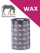 Zebra 2100 wax thermal transfer ribbons - 102mm x 450m (02100BK10245)