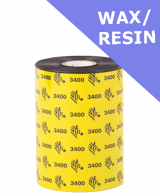 Zebra 3400 wax / resin thermal transfer ribbons - 174mm x 450m (03400BK17445)